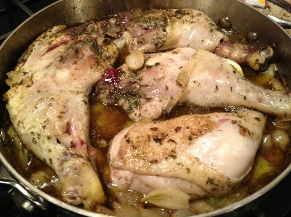 Braised Chicken Legs with Artichokes and Pearl Onions | The Keith ...